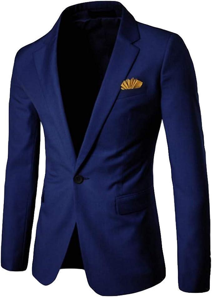 Blazer Elegante Traje Casual De Concha para Hombre Blazer Business ...