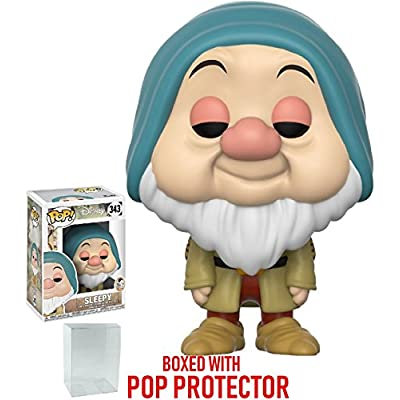 Funko Pop! Disney: Snow White and the Seven Dwarfs - Sleepy Vinyl Figure (Bundled with Pop Box Protector Case): Toys & Games