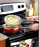 Frying Basket Round set of 2 Large Small Stainless Steel Fry Fish...
