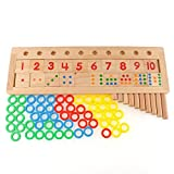 Little star Baby Toys Professional Puzzles Colourful Montessori Teaching Tool Math Number Wood Board Preschool Toy
