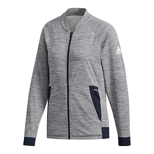 adidas Women`s Knit Tennis Jacket Grey Six (Small Grey)