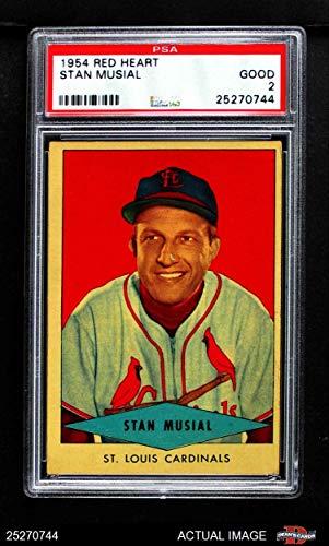 1954 Red Heart Stan Musial St. Louis Cardinals (Baseball Card) PSA 2 - GOOD Cardinals