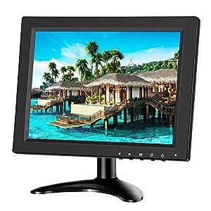 Eyoyo 10 Pouces Moniteur IPS LCD HD HDMI 4: 3 Ecran Portable avec Entrée BNC HDMI VGA AV 1024×768 pour PC Raspberry Pi…