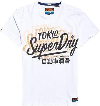 Superdry Camiseta Ticked Type Oversize Blanca