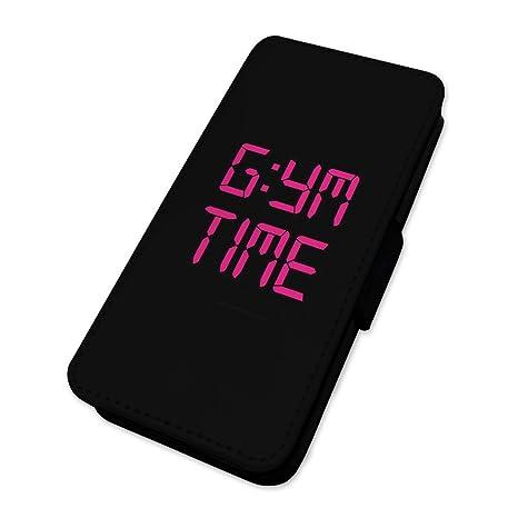 Gimnasio tiempo broma – Reloj Fitness Crossfit Bodybuilding entrenamiento – Funda con tapa tipo libro para