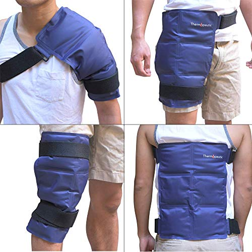 Thermopeutic Reusable Large (15.5x12) Gel Ice Pack for Injuries Medical Hot Cold Wrap for Back Knees Shoulders Hip Neck Ankle & More