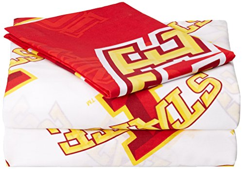 Officially Licensed NCAA Iowa State Cyclones Twin Sheet Set (Notre Dame Bedding)