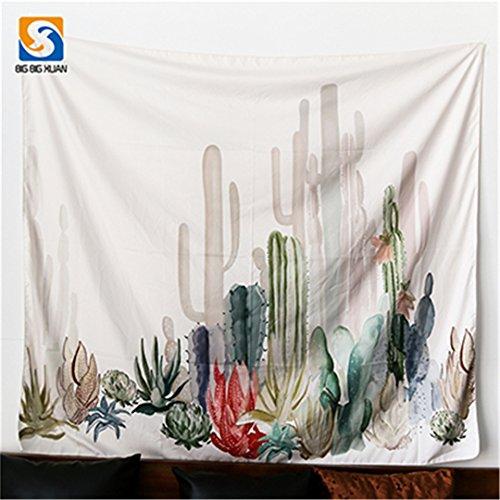 GUATAN 2 Size Mandala Wall Hanging Cactus Tapestry Green Succulents 3D Flower Art Carpet Blanket Yoga Mat Decorative Tapestry For Home 1 200x150cm