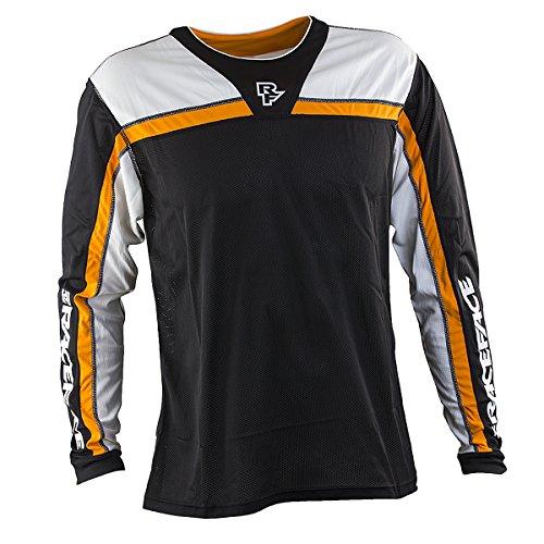 Race Face Stage Long Sleeve Jersey, Black/Orange, Medium