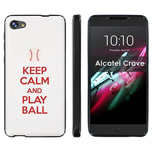 Alcatel A50 [Crave/Pulse Mix] TPU Silicone Phone Case [Mobiflare] [Black] Ultraflex Thin Gel Phone Cover - [Play Ball - Washington] for Alcatel Pulse Mix/Alcatel Crave/ Alcatel A50