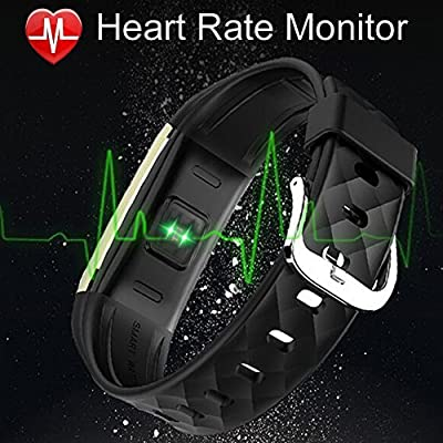Fitness Tracker, MJFOX Heart Rate Monitor Smart Bracelet Wireless Bluetooth IP67 Waterproof OLED Band Wristband Watch with Health Sleep Activity Tracker Pedometer for iOS Android Phone