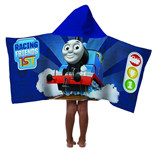 Friends Bath Towel (Mattel Thomas The Tank Engine & Friends 100% Cotton Terry Kid's Hooded 22