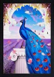 SAF Large Peacock Big Size Digital Reprint 25.5 inch x 19.5 inch Painting ()