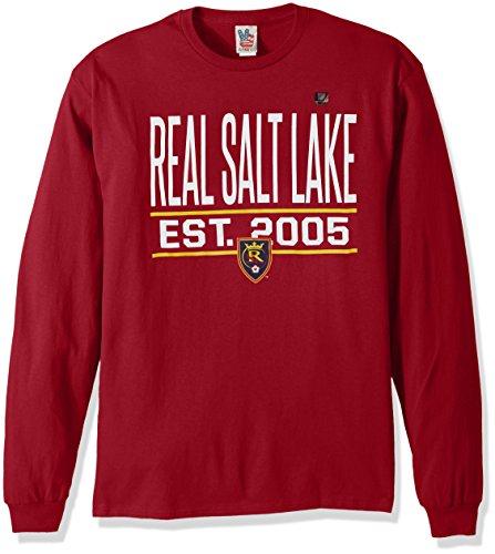 (Junk Food MLS Real Salt Lake Men's Long Sleeve Tee, Small, Card)