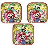 """Super Mario Square Dessert Plates 7"""" (24 Pieces)"""