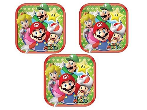 Super Mario Square Dessert Plates 7