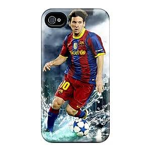 Iphone 4/4s YXJ6850dmnc Custom Stylish Lionel Messi Image Shock-Absorbing Hard Phone Case -TimeaJoyce