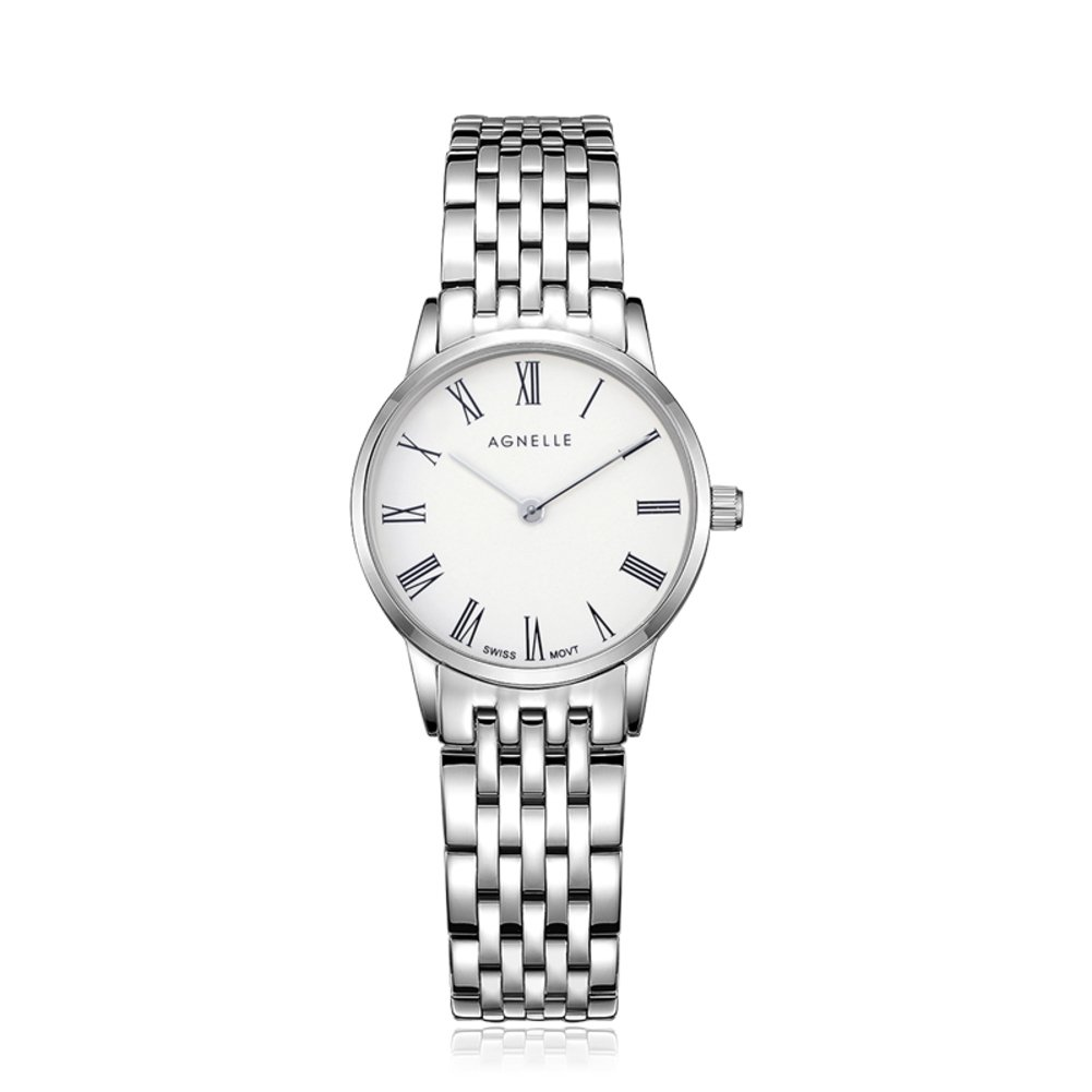 Women's quartz analog ultra-thin watches,Water resistant Classic Luxury Business Casual Mesh stainless steel Roman numeral Dress Wrist watch -B