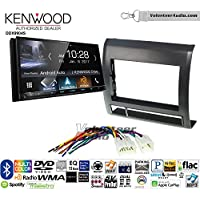 Volunteer Audio Kenwood DDX9904S Double Din Radio Install Kit with Apple CarPlay Android Auto Bluetooth Fits 2005-2011 Non Amplified Toyota Tacoma (Black textured)