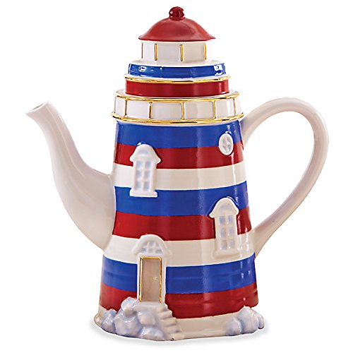 Lenox Lighthouse Teapot Earthenware 9.25