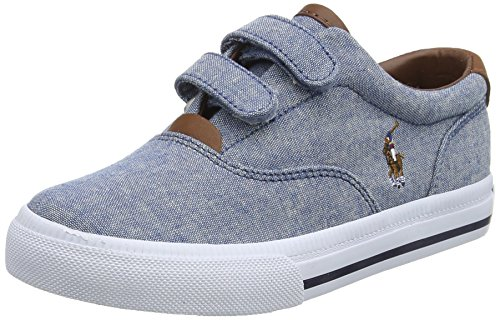 Bimbo E8450 Tissue Blu Kid Ralph Polo Lauren Sneaker Shoe Scarpe Blu Boy marrone 5qnntAR