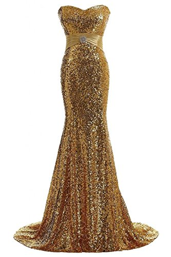 APXPF Women's Mermaid Shining Sequins Evening Party Dress Long Formal Prom Dress