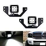 05 dodge 2500 fog lights - iJDMTOY Complete 40W CREE High Power LED Pod Light Kit w/ Fog Lamp Location Mounting Brackets & Wiring For 2002-2008 Dodge RAM 1500, 2003-2009 Dodge RAM 2500 3500 & 2004-2006 Dodge Durango