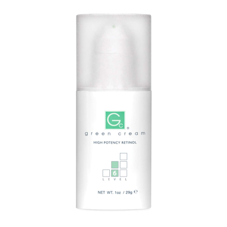 Green Cream Retinol, Level 6, High Potency, Airless Pump, 1 Ounce