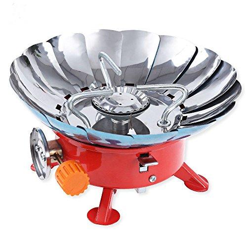 ezyoutdoor 2800W resistente al viento estufa al aire última intervensión Ultraligero Lotus Gas Butano Horno estufas para...