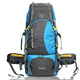 TRAWOC Trekking/Hiking Travel Backpack Bag 60 LTR Rucksack, 1 Year Warranty (SkyBlue)