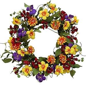 """Flower Fields Wreath -24"""" 34"""