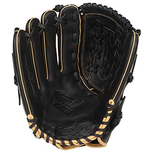 "Rawlings Shut Out Regular Double-Laced Basket-Web 12-1/2"" Softball Gloves"