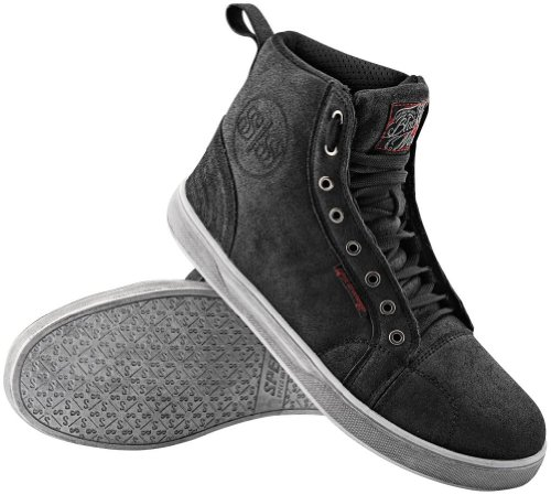 Speed and Strength Black Nine Moto Shoe (12) (BLACK)