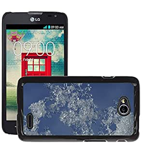 Etui Housse Coque de Protection Cover Rigide pour // M00150446 Nieve Cielo Hielo Invierno Escarcha // LG Optimus L70 MS323