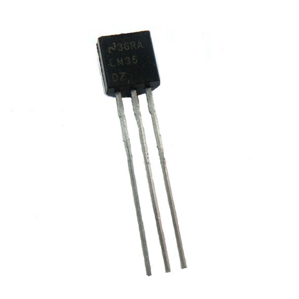 LM35DZ TO-92 LM35 Precisión Sensor de Temperatura Centígrado IC Bajo Impedancia DIY: Amazon.es: Electrónica