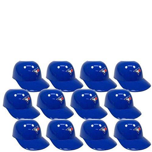 MLB Mini Batting Helmet Ice Cream Sundae/ Snack Bowls-12 Pack (Toronto Blue Jays)