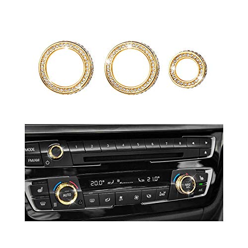 1797 Compatible AC Knob Caps for BMW Accessories Parts Air Conditioning Covers Decal Bling Interior Decorations 2 3 4 Series X3 X4 X5 X6 F30 F31 F15 F16 G01 F82 - 902 Knob