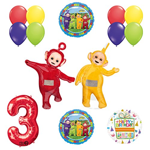 Teletubbies Balloon - Mayflower Products Teletubbies 3rd Birthday LAA-LAA & PO Balloon Birthday Party Supplies and Decorations