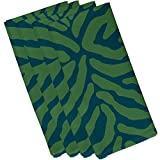 E by design Animal Stripe, Geometric Print Napkin, (Set of 4), 19 x 19'', Teal