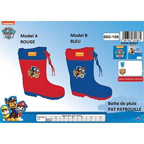 Bottes de Pluie PAT PATROUILLE Paw Patrol * NEUF l'unité / Model aléatoire * EUR 22 au 32 / UK 5,5 au 13 *