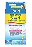 25 Ct. Finest Popular 5 in 1 Aquarium Tester Strips Freshwater Kit Saltwater Check Easy to Read with Color Chart
