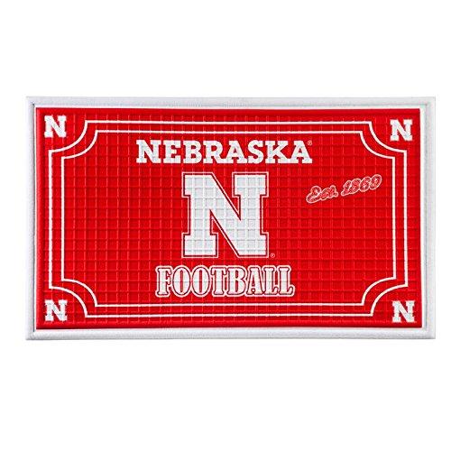 Team Sports America 41EM949B Nebraska Embossed Door Mat, ()