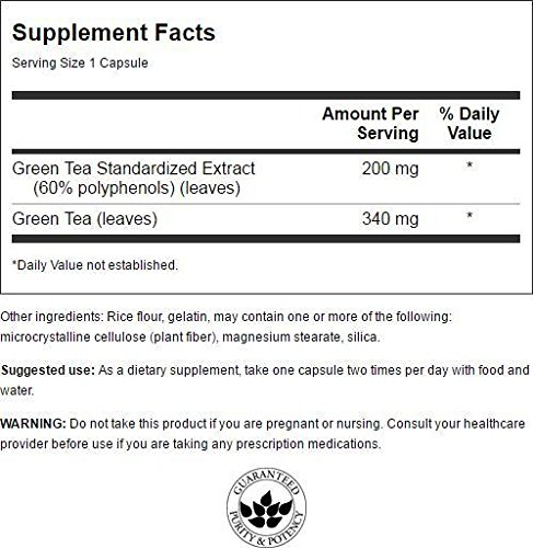Swanson Green Tea Extract (Standardized) 120 Capsules