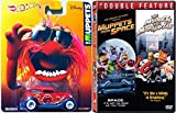 The Muppets Take Manhattan Movie DVD & Hot Wheels Animal Edition & Muppets in Space with Character Entertainment Car Set
