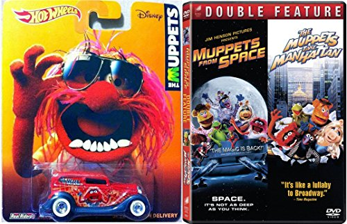 The Muppets Take Manhattan Movie DVD & Hot Wheels Animal Edition & Muppets in Space with Character Entertainment Car Set Jim Henson's The Christmas Toy