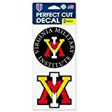 WinCraft Virginia Military Institute Keydets VMI Keydets 4''x8'' Die Cut Decal (Two - 4''x4'' Decals)