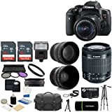 Canon EOS Rebel T6i DSLR CMOS Digital SLR Camera with EF-S 18-55mm f/3.5-5.6 IS STM Lens + 2x Sandisk High Speed 16GB Memory Cards and Accessories.
