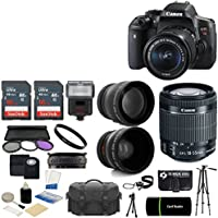 Canon EOS Rebel T6i DSLR CMOS Digital SLR Camera with EF-S 18-55mm f/3.5-5.6 IS STM Lens + 2x Sandisk High Speed 16GB Memory Cards and Accessories. Overview Review Image