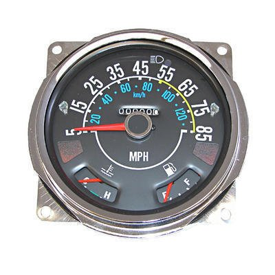Omix-Ada 17206.05 Speedometer Assembly, 5-85 MPH, Includes Speedometer Assembled With Fuel and Temperature Gauges, Jeep CJ5 1980-1983, CJ7 1980-1986, CJ8 1981-1986