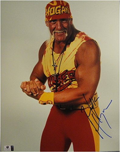 Hulk Hogan Hand Signed Autograph 11x14 Photo Sexy Flexing Posing JSA U16478